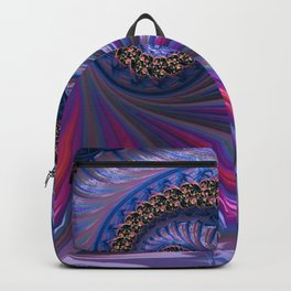 Curved Blue Fractal Backpack