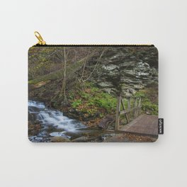 Footbridge & Waterfall in Autumn Carry-All Pouch