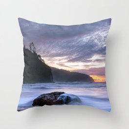 Cape Lookout Sunset Throw Pillow
