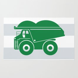 Green Dump Truck Rug