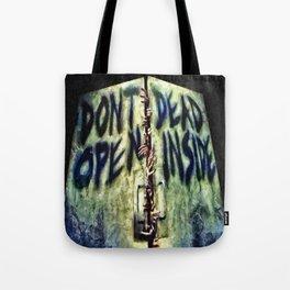 Walking Dead Dont Open Tote Bag