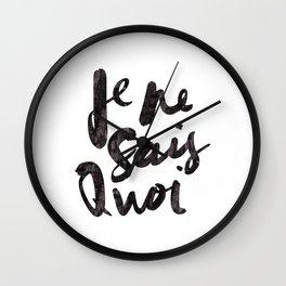 Je Ne Sais Quoi Wall Clock