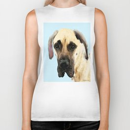 Great Dane Art - Dog Painting by Sharon Cummings Biker Tank