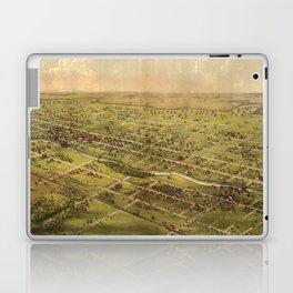 Vintage Pictorial Map of Lansing Michigan (1866) Laptop & iPad Skin