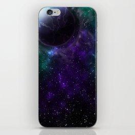 Purple Galactic Thunder iPhone Skin