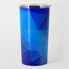 Abstract digital art polygon triangles Travel Mug