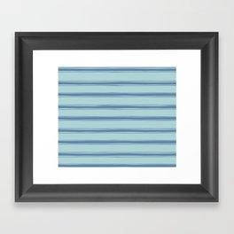 Cobalt blue french striped Framed Art Print