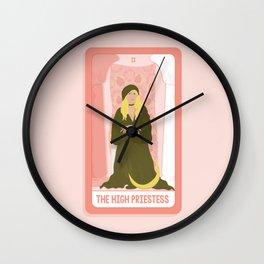 Tarot Card II: The High Priestess Wall Clock
