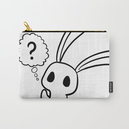Confused Rabbit (Black design) Carry-All Pouch
