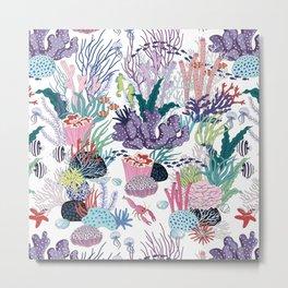 underwater pattern Metal Print