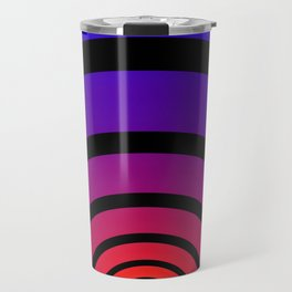 Blue, Red, and Yellow Circles Travel Mug