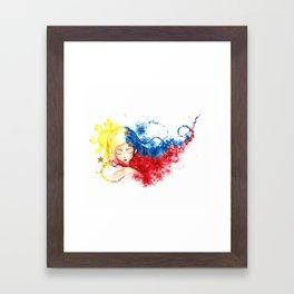 Lady Filipino Framed Art Print