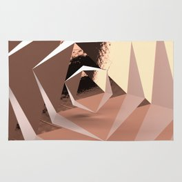 Multifaceted - Rose Gold and Copper Rug