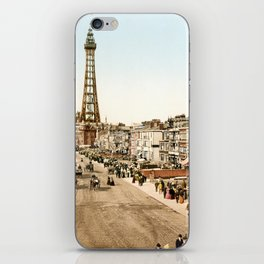 The Promenade at Blackpool, Lancashire, England 1898 iPhone Skin