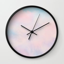 cotton candy dreaming Wall Clock