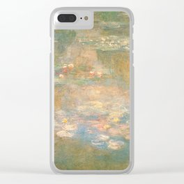 Water Lilies Claude Monet 1908 Clear iPhone Case
