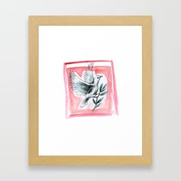 Peace Dove (Red) Framed Art Print