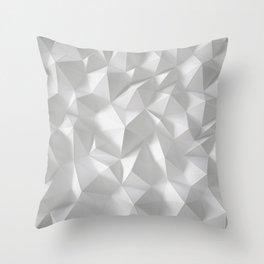 White polygonal landscape Throw Pillow