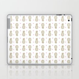 Golden pineapple pattern Laptop & iPad Skin
