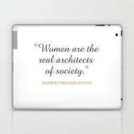 Women are the real architects of society Laptop & iPad Skin