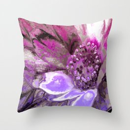 In Sunlight, Petunia Reflections Throw Pillow