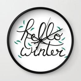 Hello Winter Wall Clock