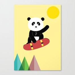 Panda on a skateboard Canvas Print