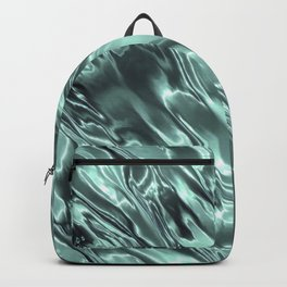 Shiny Sea Glass Reflection, Teal, Ocean Water Waves Backpack