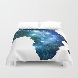 Africa Universe Blue Green Duvet Cover