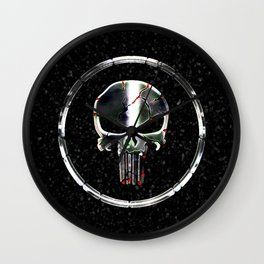 The Chrome Punisher Wall Clock