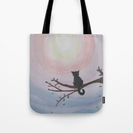 Watching a Hopeful Sunset Tote Bag