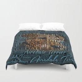 Airedale Terrier Word Art Duvet Cover
