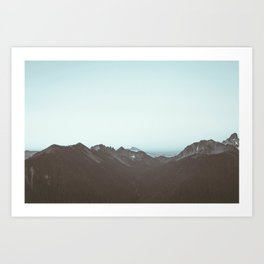 Mount Rainier National Park B&W Print Art Print