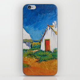 Three white cottages in Saintes-Maries by Vincent van Gogh iPhone Skin