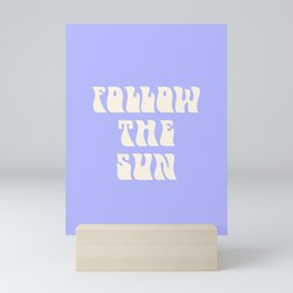 follow the sun - purple Mini Art Print