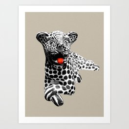 tigre blanco Art Print