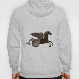 Hippocampus Sea Horse Myth Retro Vintage Rough Design Hoody