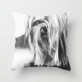 Coiffure Throw Pillow