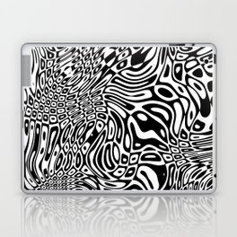 Black  and white psychedelic optical illusion Laptop & iPad Skin