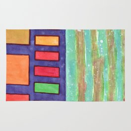 Building with colorful Windows Rug