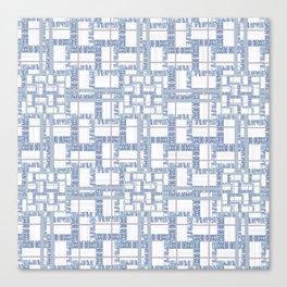 Textural Blue Canvas Print