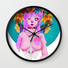 Dripping Femme Fatal Wall Clock