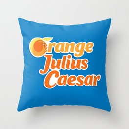 Orange Julius Caesar Throw Pillow