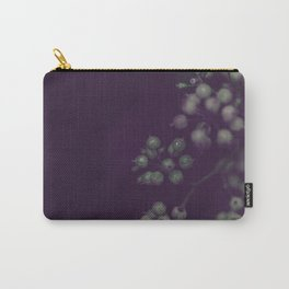 Sage Green Seeds on Deep Plum Carry-All Pouch