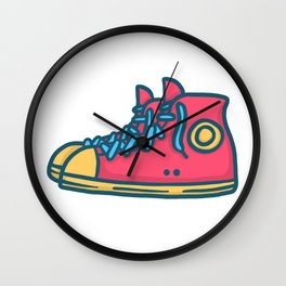 Chuck Taylors Inspired Vintage Pop Shoes Wall Clock