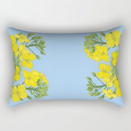 Summer flower in yellow Rectangular Pillow