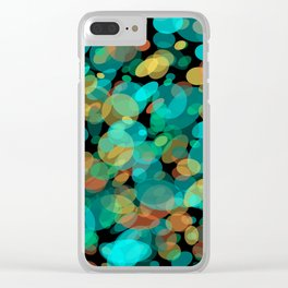 Colorful Pebbles on the Beach Clear iPhone Case