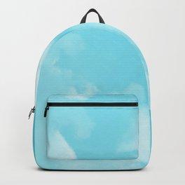 Aqua Blue Clouds Backpack