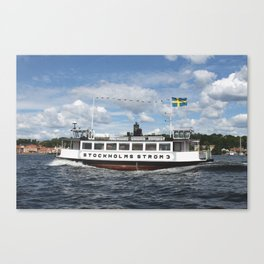 Ferry of Stockholms Strom Canvas Print