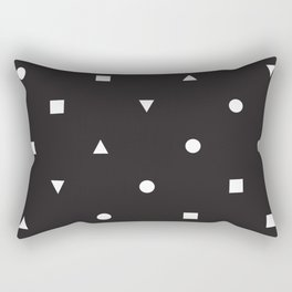 Black and White Shapes Rectangular Pillow